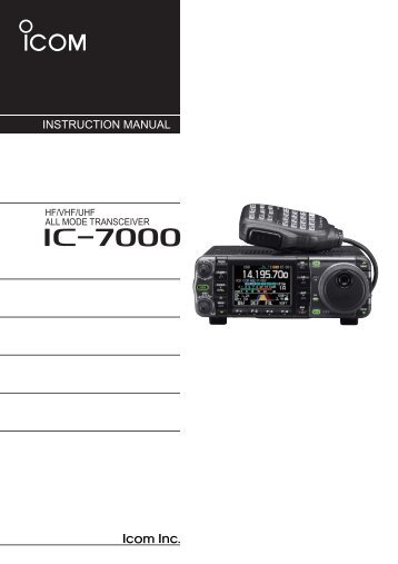 icom 7200 instruction manual