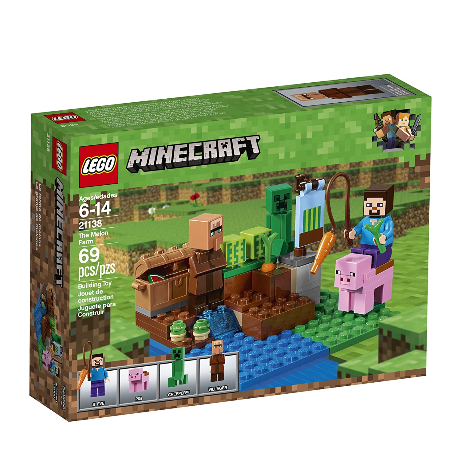 lego minecraft brick instruction