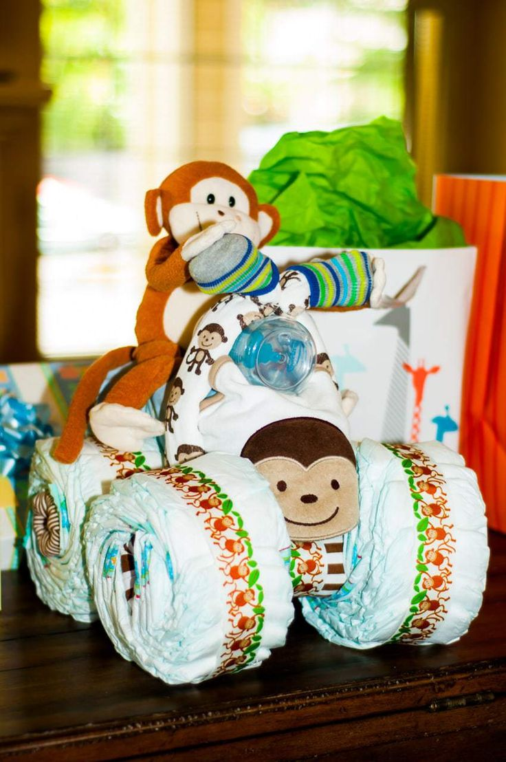 instructions for making a tricycle diaper cake