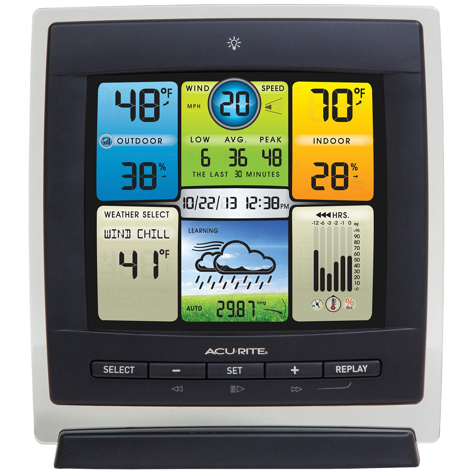 acurite indoor outdoor digital thermometer with humidity instructions