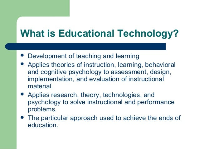 what is instructional technology learning