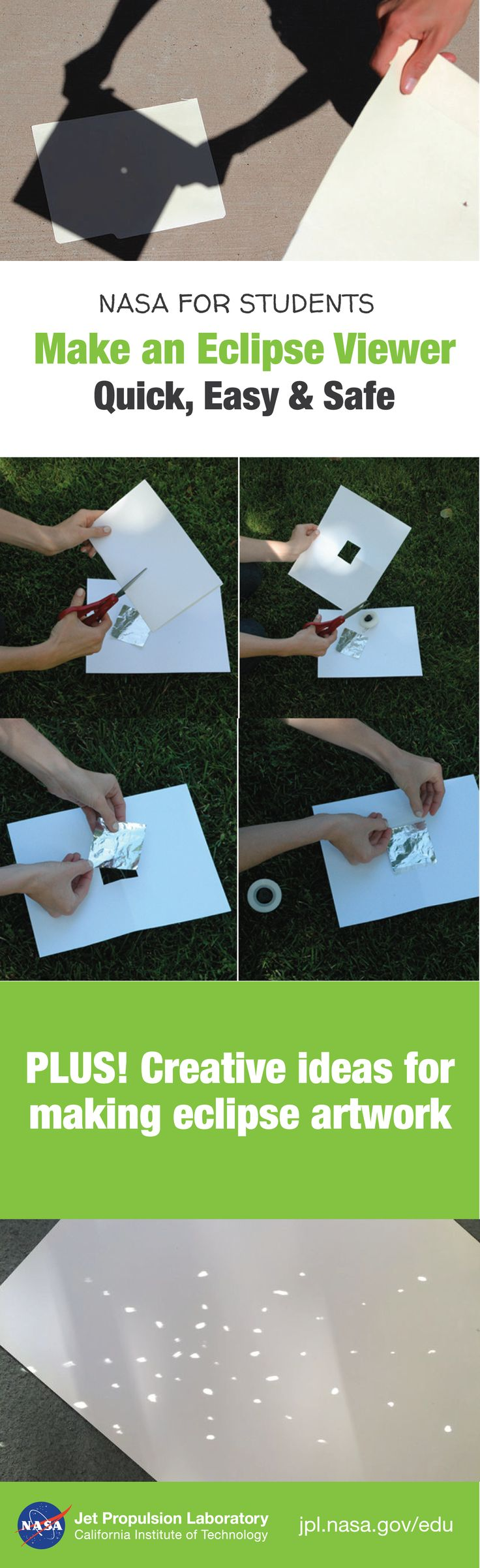 instructions for make solar eclipse viewer