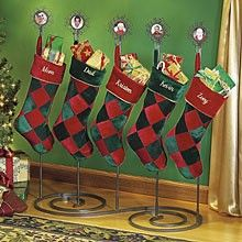 instructions to make a christmas stocking holder stand