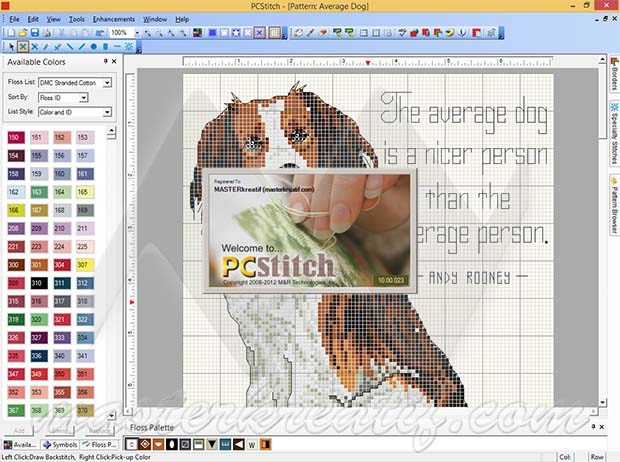 www.pcstitch.com free instruction on how to use pcstitch10